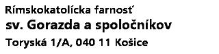 Rímskokatolícka farnosť sv. Gorazda a spoločníkov, Košice Logo